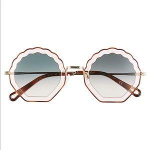 Chloe Tally 56mm Scalloped Sunglasses *BNWT*